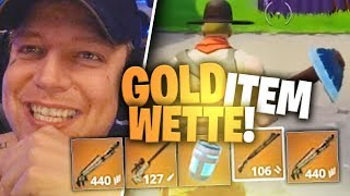 Goldene Items Challenge in Fortnite | 5000€ Wette | SpontanaBlack