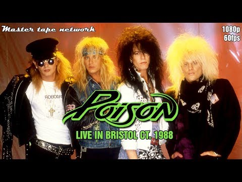 Poison Live In Bristold CT. 1988 Open Up and Say Ahh Tour Master Tape Network 60fps HD Mp3
