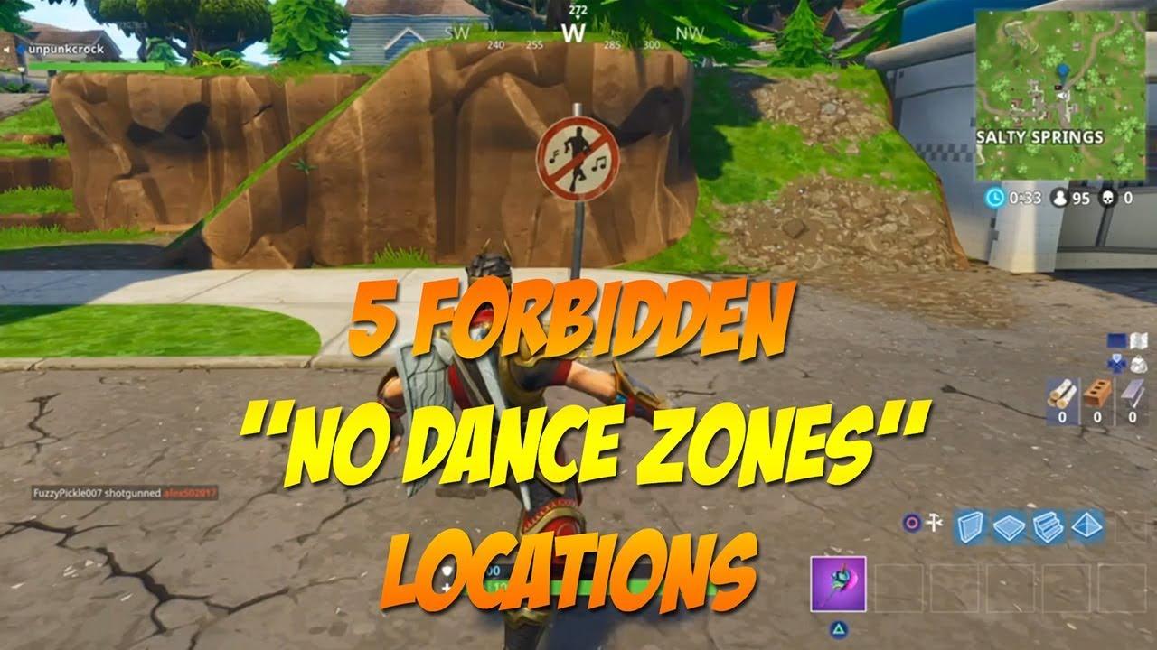 Fortnite Forbidden Locations No Dance Zone Secret Challenge