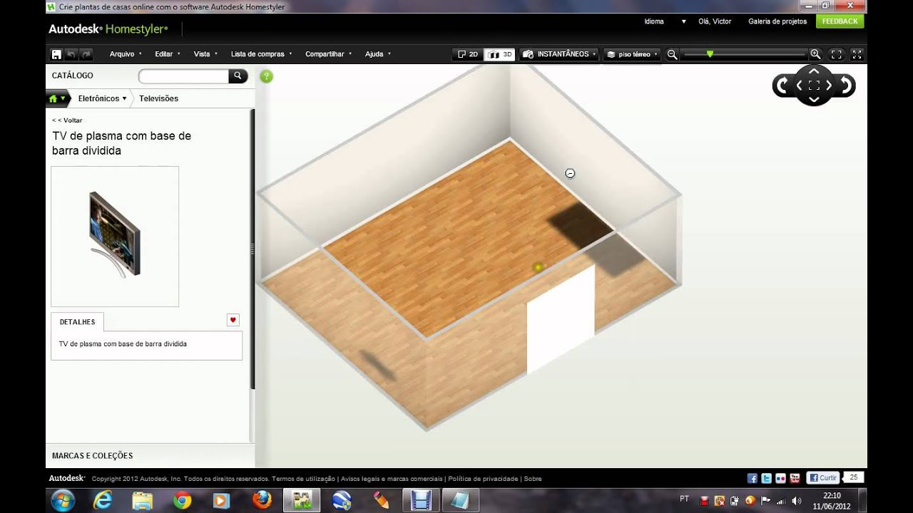 Autodesk Homestyler Designer de casas - YouTube
