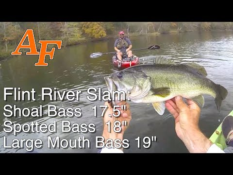 Flint River Kayak Explore Ft Flukemaster Bass Master Fishing Report Georgia USA match fishing EP.391
