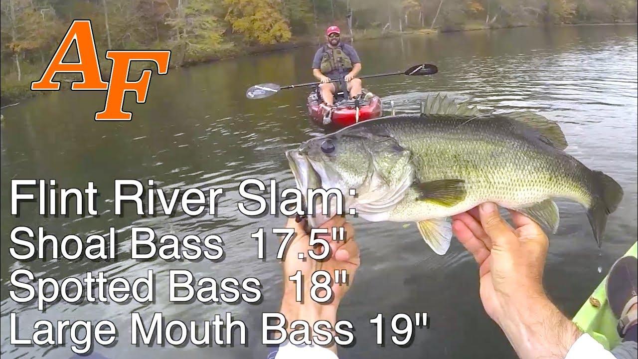 Flint river kayak explore ft flukemaster bass master for Usa fishing report