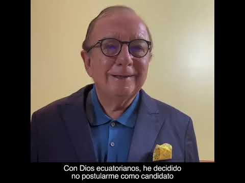 Álvaro Noboa decide no postularse a la presidencia del Ecuador en las próximas elecciones