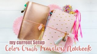Color Crush Travelers Notebook - My Current Setup(OPEN ME FOR DETAILS *** Sharing my current Setup of my Webster's Pages Color Crush Travelers Notebook ..., 2016-04-09T02:07:03.000Z)