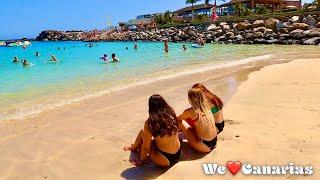 Гран-Канария Плайя-де-Амадорес Пляжная жизнь Июль 2021 г.  We❤️Canarias