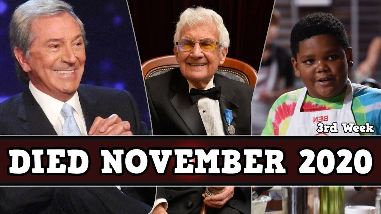 Celebrities Who Died in November 2020, 3rd Week