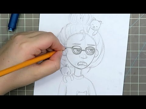 "Sketching & Inking - ""I'm Not Interested"""