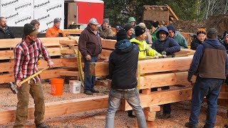 DAY 4 (Pt 2): 26 Rookies Build Timber Frame House in 5 Days