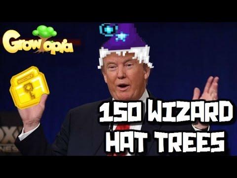 Growtopia - Breaking 150 Wizard Hat Trees!!