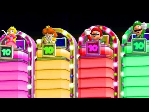 Mario Party 9 - Minigames - Mario Vs Peach Vs Wario Vs Luigi