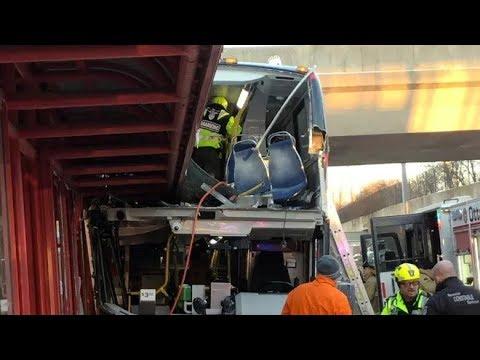 Bus crashes into Ottawa shelter