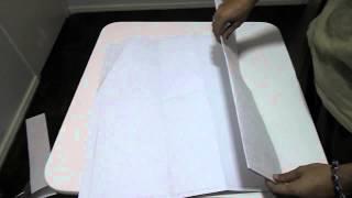 Como dobrar uma folha A1