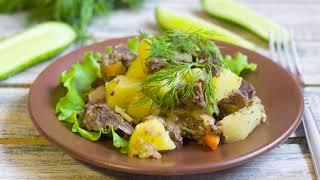 Тушеная картошка с мясом в кастрюле простой и сытный рецепт