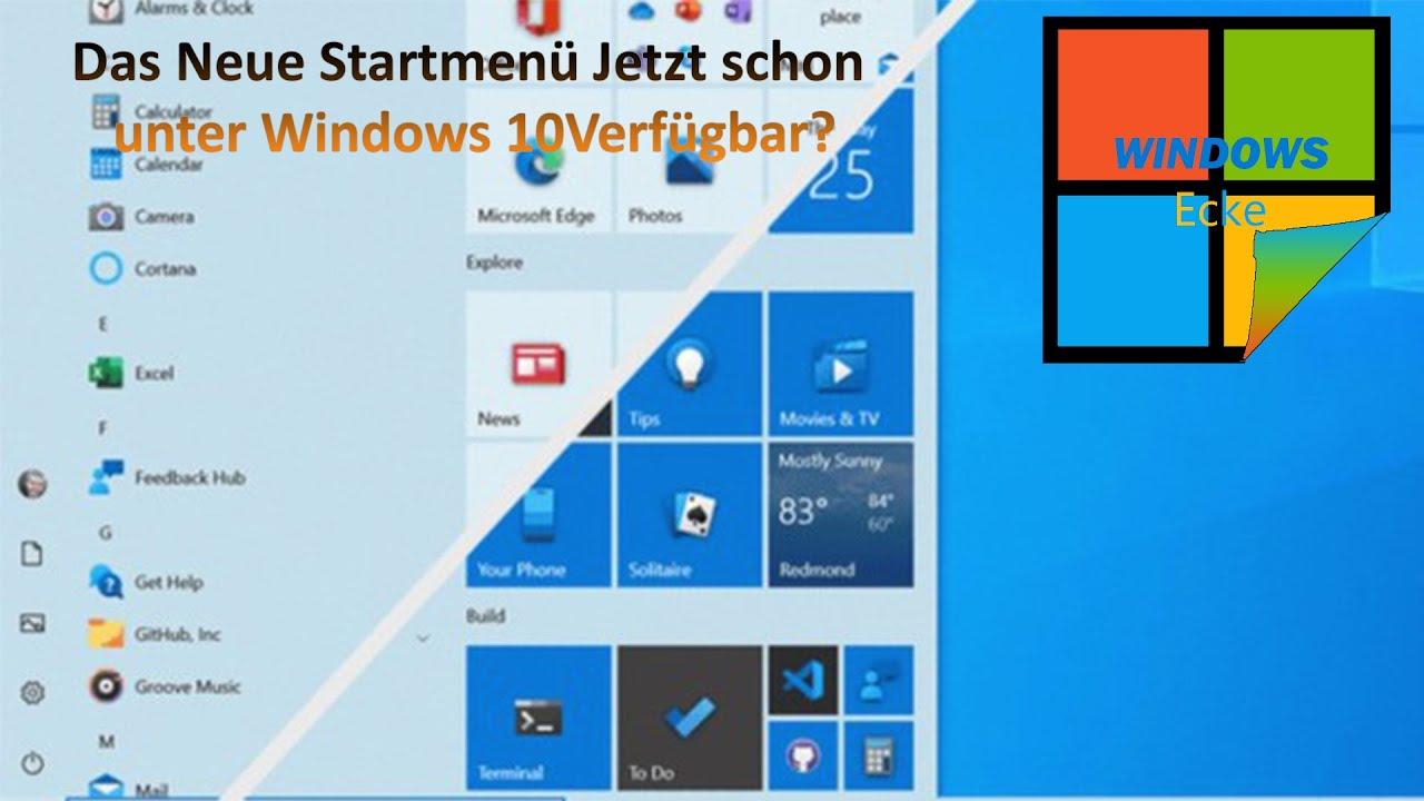 Download Windows 10 2004 das Neue Startmenü Freischalten - Windows 10 20H2