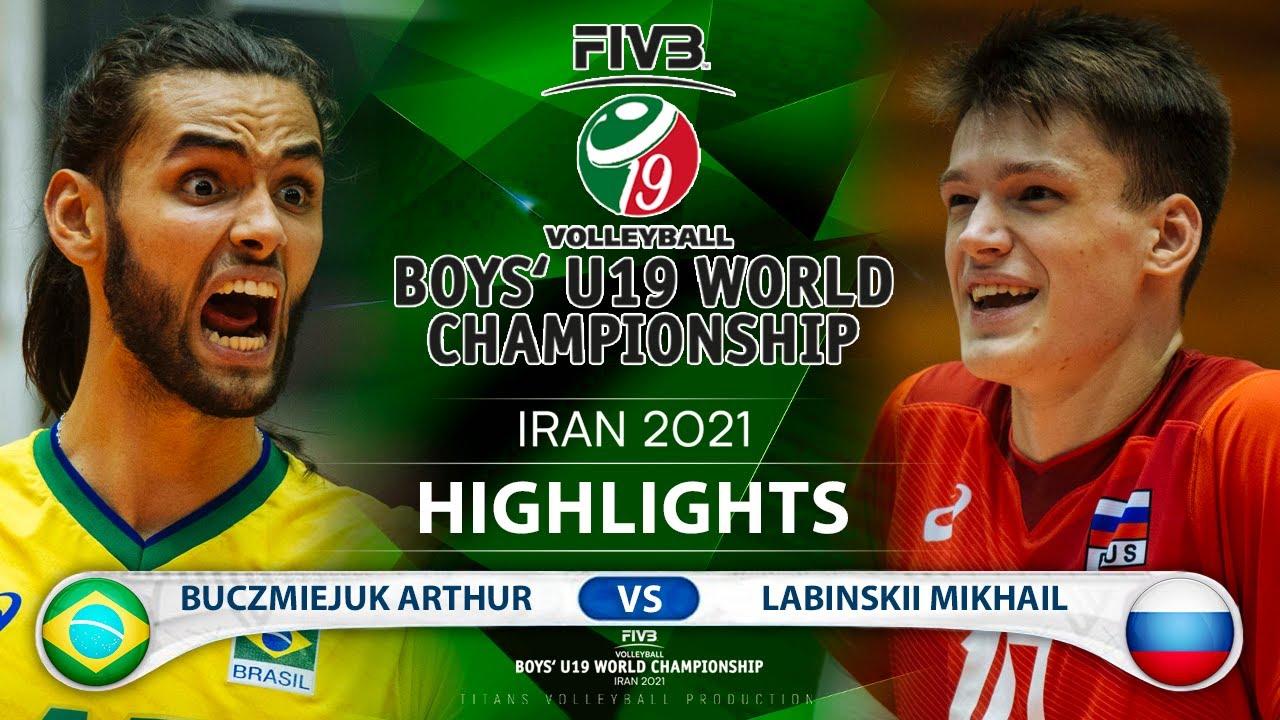 Brazil vs Russia | Boys U19 World Champs 2021 | Highlights | Buczmiejuk Arthur vs Labinskii Mikhail