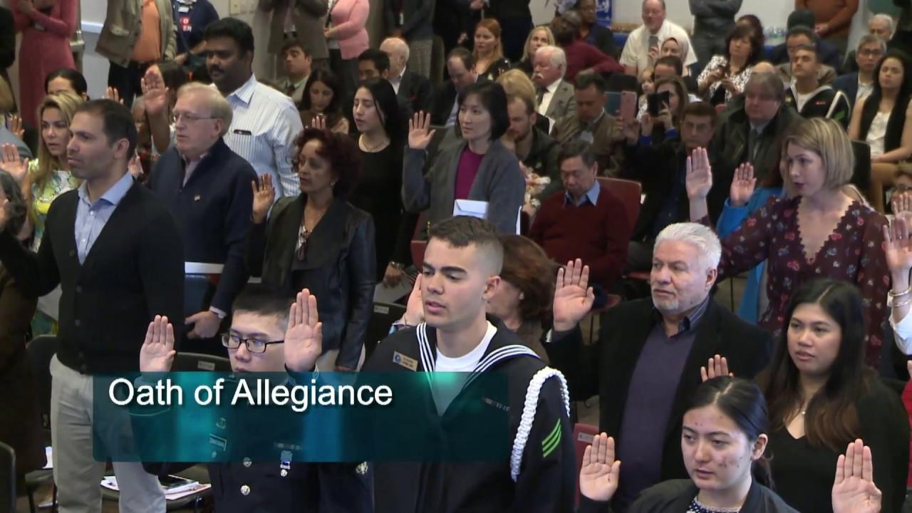 U S  Naturalization Ceremony at Arlington VA Central Library