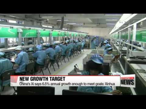 China′s Xi says 6.5 pct. annual growth enough to meet goals: Xinhua   중국 ′6%대 성장