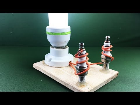 New  Electric Electric 2019 Free Energy Generator 100% Running With Spark Plug