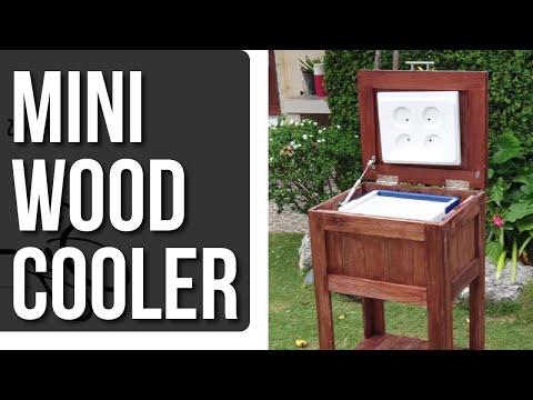 DIY Mini Wood Cooler Project