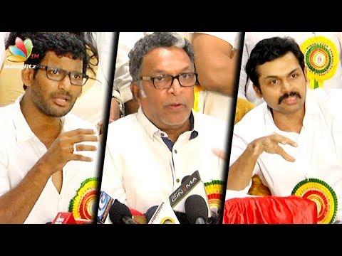 Rajini and Kamal attending Nadigar Sangam's Mega Star Night in Malaysia | Vishal, Karthi Speech