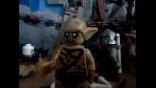 lego the hobbit: goblin chase battle part 1 stopmotion