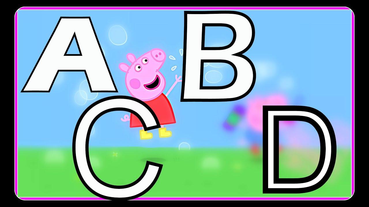 abc lernen für kinder mit peppa wutz i buchstaben lernen