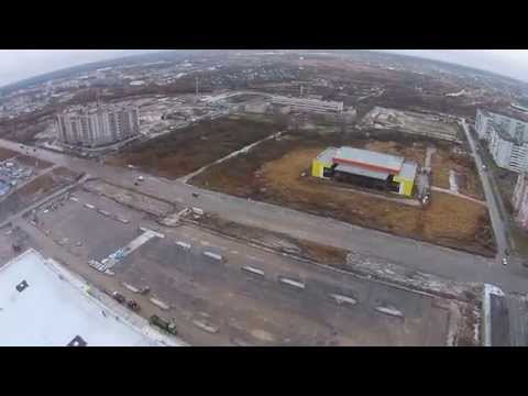 Великий Новгород. Строительство ТЦ Лента и Спортивного комплекса на ул. Псковской.