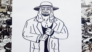 como dibujar al undertaker how to draw undertaker