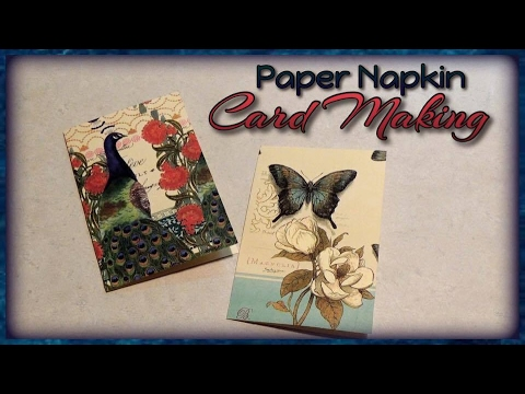 Paper Napkin Card Making