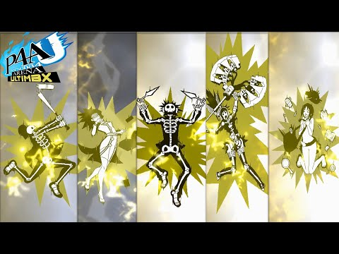 Persona 4: Arena Ultimax | All Character Electrocution Animations |