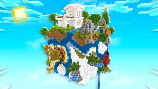 BUILDING A HOUSE ON A PLANET IN MINECRAFT!