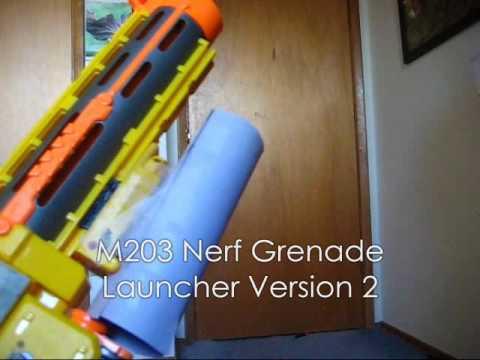 M203 nerf grenade launcher version 2 - YouTube