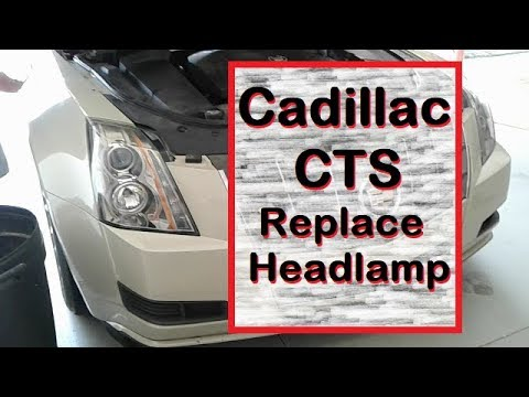 Install new / replace change headlamp front lightbulb on Cadillac CTS…how to save MONEY! Easy DIY