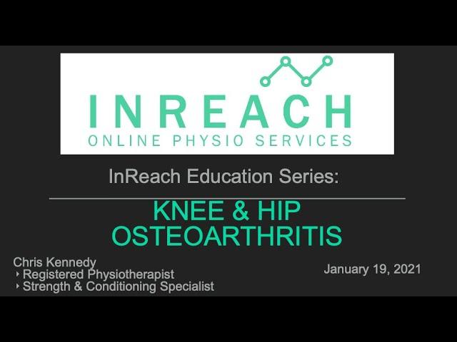 Knee and Hip Osteoarthritis