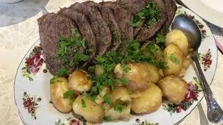 Вкусный маринад для мяса/Ужин в рукаве/Лёгкий салат