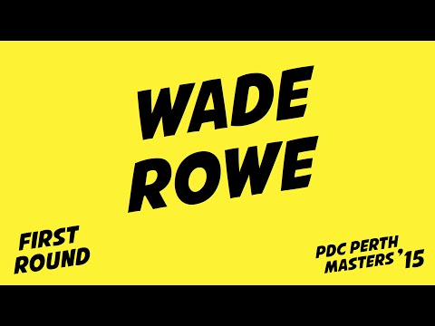 Darts Perth Masters '15: Wade vs Rowe | 1st round