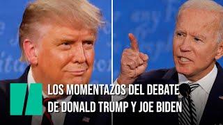 Los momentazos del debate de Trump y Biden