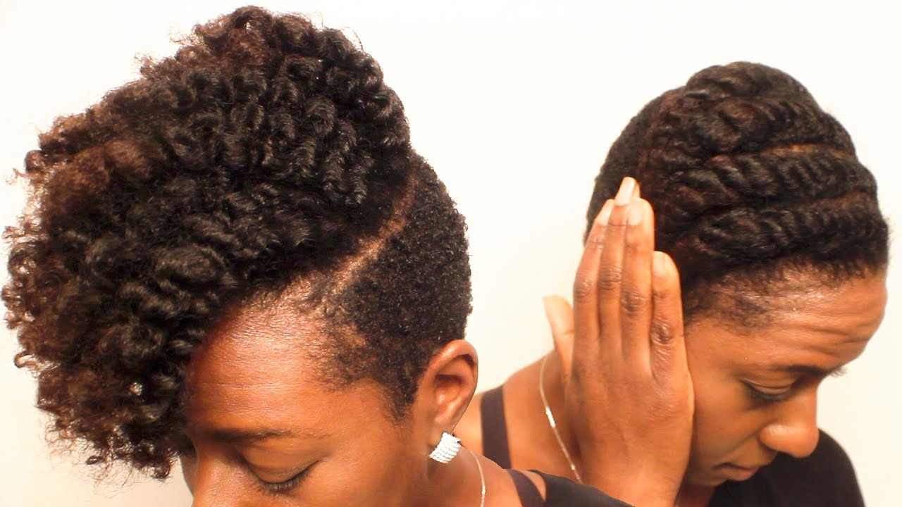 natural hair defined flat
