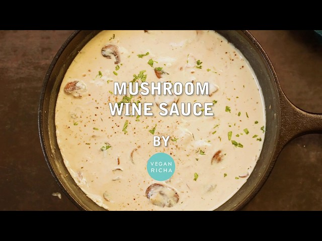 VEGAN MUSHROOM SAUCE -  | Vegan Richa Recipes