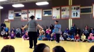 Wipe out in Gjoa Haven, Nunavut Sharon & Aldina
