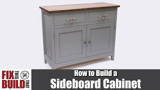 Detailed blog post with plans available - http://fixthisbuildthat.com/diy-sideboard-cabinet-woodworking-plans/ SUBSCRIBE - https://