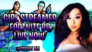 GIRL STREAMER|2K OTW| FORTNITE CUSTOM SCRIMS| LIVE NOW|use Code: Ari-00001 In The Item Shop!