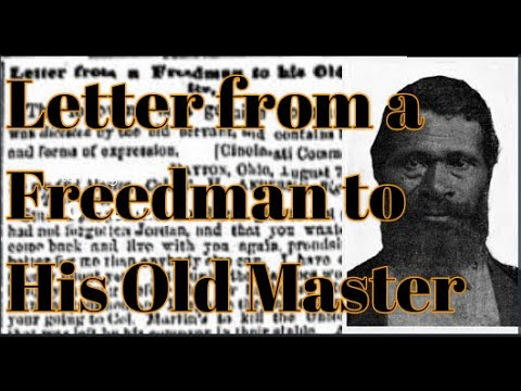 Letter From A Freedman To His Old Master.Letter From A Freedman To His Old Master Jordan Anderson Slave Humor Full Letter And Biography