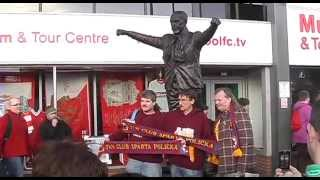 Fandíme Spartě v Liverpoolu