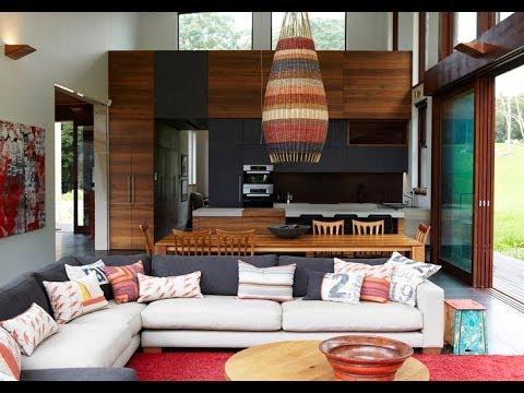 Dise o de interiores r stico madera y piedra youtube for Decoracion de interiores rustico
