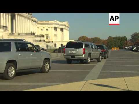 Raw: VP-Elect Mike Pence Arrives on Capitol Hill