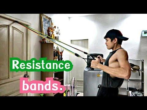 รีวิวเล่นกล้ามด้วยยางยืดแรงต้านครับ 💪 Resistance bands.