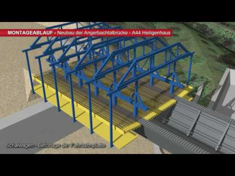 A 44: Montageablauf Zum Neubau Der Angerbachtalbrücke