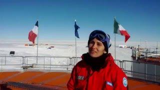 Gli auguri del capitano medico Letizia Valentino dall'Antartide