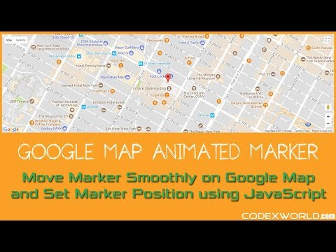 How to Move Marker Smoothly on Google Map using JavaScript - YouTube